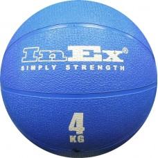 Мяч Набивной Inex Medicine Ball 4 кг синий