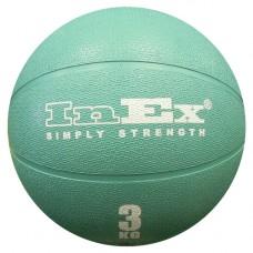 Мяч Набивной Inex Medicine Ball 3 кг зеленый