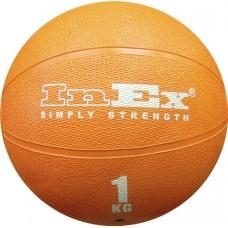 Мяч Набивной Inex Medicine Ball 1 кг оранжевый