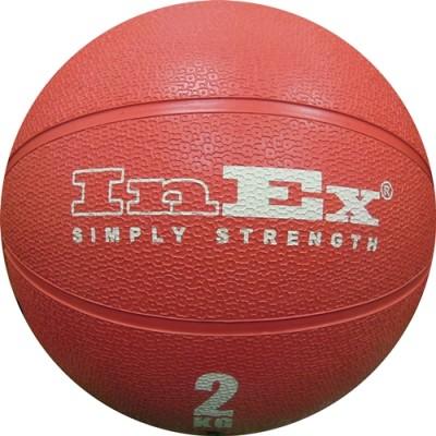 Мяч Набивной Inex Medicine Ball 2 кг красный
