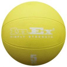 Мяч Набивной Inex Medicine Ball 5 кг желтый
