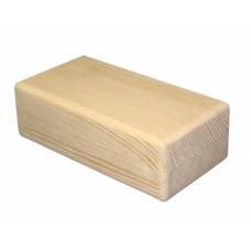 Блок Люкс из сосны шлифованный (23x12x8 см) для йоги