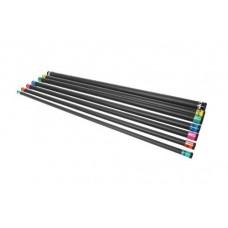 Бодибар - гимнастическая палка Inex (122 см) 1,35кг бирюзовый