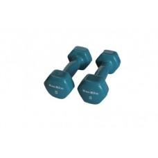 Гантели в виниловой оболочке Inex (пара) 2,25 кг голубой