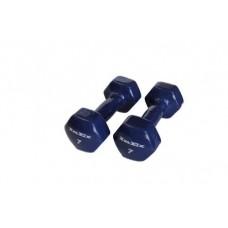 Гантели в виниловой оболочке Inex (пара) 3,15 кг синий