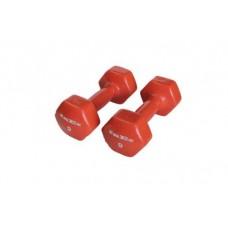 Гантели в виниловой оболочке Inex (пара) 4 кг оранжевый