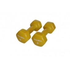 Гантели в виниловой оболочке Inex (пара) 2,7 кг желтый