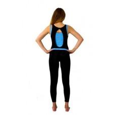Комбинезон Селена (черный/голубой) 170 см, S, M