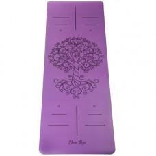 Коврик Devi Yoga Tree of Life NON SLIP (185х68 см, 4 мм) для йоги